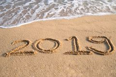 Szczęśliwy nowego roku 2019 pojęcie Fotografia Royalty Free