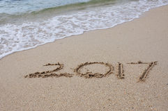 Szczęśliwy nowego roku 2017 pojęcie Obraz Royalty Free