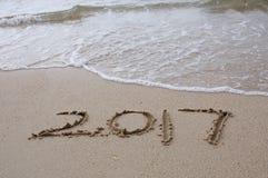Szczęśliwy nowego roku 2017 pojęcie Zdjęcia Royalty Free
