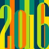 Szczęśliwy nowego roku 2016 pojęcie Rocznik ornamentacyjny ilustracji