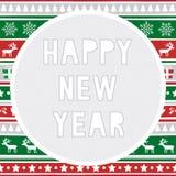Szczęśliwy nowego roku powitanie card8 Fotografia Royalty Free