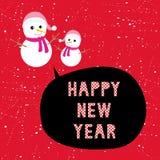 Szczęśliwy nowego roku powitanie card13 Fotografia Royalty Free