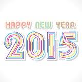 Szczęśliwy nowego roku 2015 projekt Fotografia Royalty Free