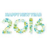 Szczęśliwy nowego roku 2016 projekt Zdjęcie Stock