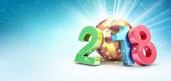 Szczęśliwy nowego roku 2018 symbol dla kartka z pozdrowieniami Zdjęcia Royalty Free