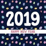Szczęśliwy nowego roku 2019 tło royalty ilustracja