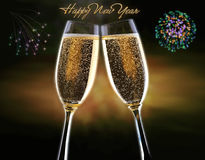 Szczęśliwy nowego roku tło Obrazy Royalty Free