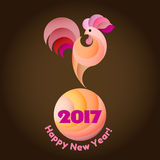 Szczęśliwy nowego roku 2017 tło Zdjęcie Stock