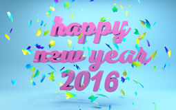 Szczęśliwy nowego roku 2016 tekst obrazy stock