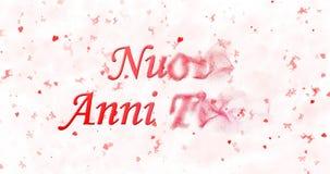 Szczęśliwy nowego roku tekst w włoszczyźnie Fotografia Stock