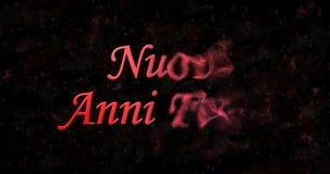 Szczęśliwy nowego roku tekst w włoszczyzny Nuovi anni felici zwrotach pył Obraz Royalty Free