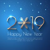 Szczęśliwy nowego roku teksta 2019 projekt royalty ilustracja