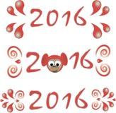 Szczęśliwy nowego roku teksta 2016 projekt Zdjęcia Royalty Free