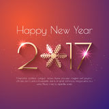 Szczęśliwy nowego roku teksta 2017 projekt Fotografia Stock