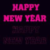 Szczęśliwy nowego roku teksta projekt logo, typografia Używalny jako sztandar, kartka z pozdrowieniami, prezenta pakunek etc, Zdjęcia Stock