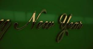 Szczęśliwy nowego roku teksta zbliżenie zdjęcie wideo