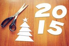 Szczęśliwy nowego roku wakacje - 2015 Obrazy Royalty Free