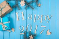Szczęśliwy nowego roku wakacje 2017 Obrazy Stock