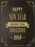 Szczęśliwy nowego roku wektor w art deco stylu Zdjęcie Royalty Free
