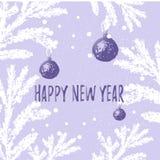 Szczęśliwy 2019 nowego roku wektorowy ilustracyjny Bożenarodzeniowy tło ilustracja wektor