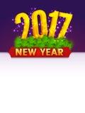 Szczęśliwy nowego roku zaproszenia lub powitania Karciany projekt Zdjęcie Royalty Free