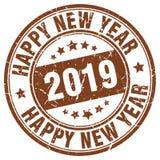 Szczęśliwy nowego roku 2019 znaczek royalty ilustracja