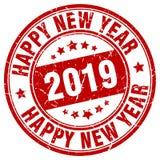 Szczęśliwy nowego roku 2019 znaczek ilustracji