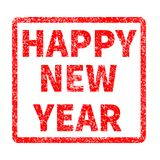 Szczęśliwy nowego roku znaczek na białym tle Obraz Stock