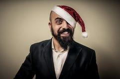 Szczęśliwy nowożytny elegancki Santa Claus babbo natale Zdjęcia Royalty Free
