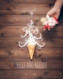 szczęśliwy nowy pocztówkowy rok Fotografia Royalty Free