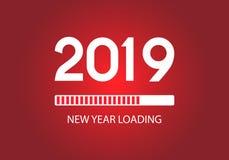 Szczęśliwy nowy 2019 rok ładowania bar sztandar nowożytna ilustracja royalty ilustracja