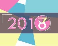 Szczęśliwy nowy rok Ładuje 2018 z kolorowym Abstrakcjonistycznym Nowożytnym Backgr Fotografia Royalty Free