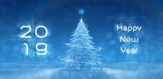 ` Szczęśliwy nowy rok - 2019 ` Świąteczny projekt Obrazy Stock