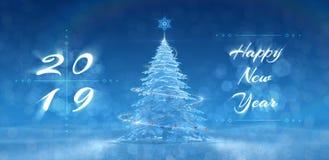 ` Szczęśliwy nowy rok - 2019 ` Świąteczny projekt Zdjęcie Stock
