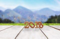 Szczęśliwy nowy rok 2018 Obrazy Stock