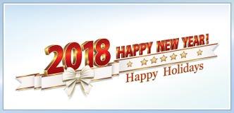 Szczęśliwy nowy rok 2018 Fotografia Stock