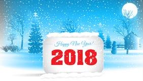 Szczęśliwy nowy rok 2018 Zdjęcia Royalty Free