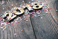 Szczęśliwy nowy rok 2018 Fotografia Royalty Free