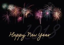 Szczęśliwy nowy rok 2018 Obrazy Royalty Free