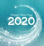 Szczęśliwy nowy rok 2020 Zdjęcie Royalty Free