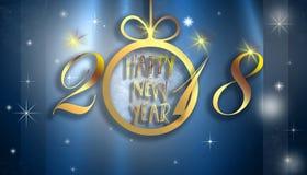 Szczęśliwy nowy rok 2018 Zdjęcie Stock