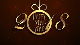 Szczęśliwy nowy rok 2018 Zdjęcia Stock