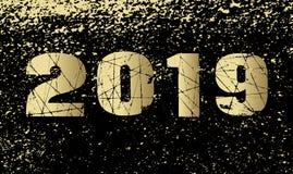 Szczęśliwy nowy rok 2019 Fotografia Royalty Free