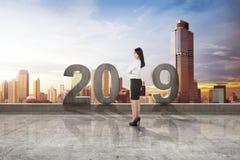 Szczęśliwy nowy rok 2019 zdjęcie stock