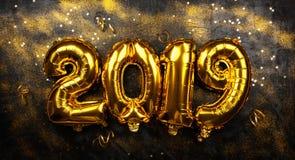 Szczęśliwy nowy rok 2019 zdjęcia stock