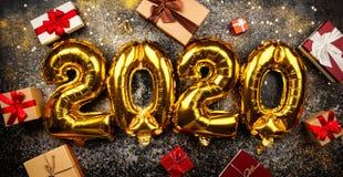 Szczęśliwy nowy rok 2020 zdjęcie stock
