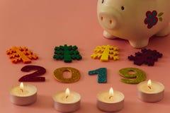Szczęśliwy nowy rok 2019 fotografia stock