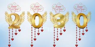 Szczęśliwy nowy rok 2030 ilustracji