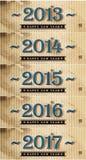 Szczęśliwy nowy rok 2013-2017 Zdjęcia Stock