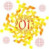 Szczęśliwy nowy rok, 2013 Obraz Stock